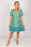 Colton Dress in Turquoise