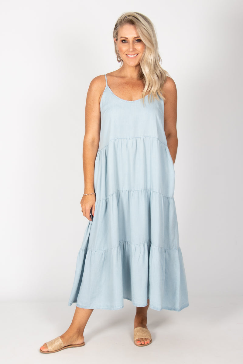 Duke Dress in Chambray
