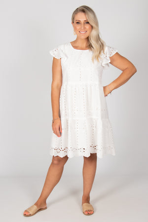 Callie Dress in White