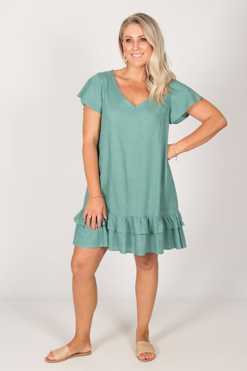 Leesa Dress in Teal