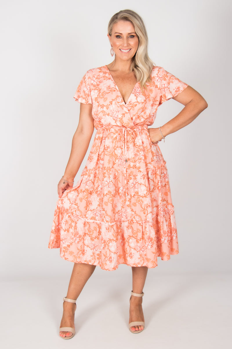Lacey Dress in Peach