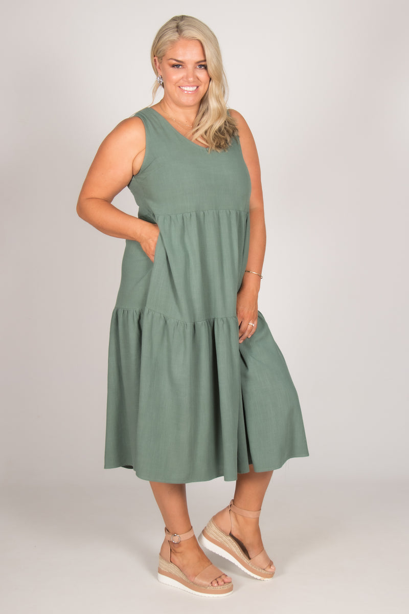 Chelsea Dress in Teal