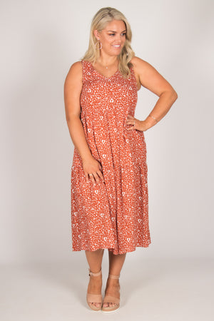 Sara Dress in Terracotta