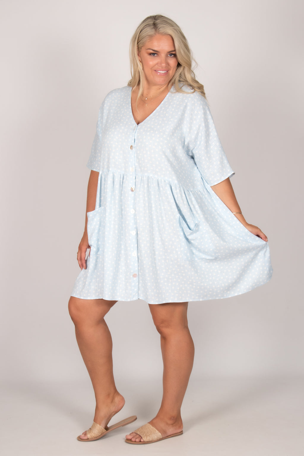 Darcie Dress in Baby Blue