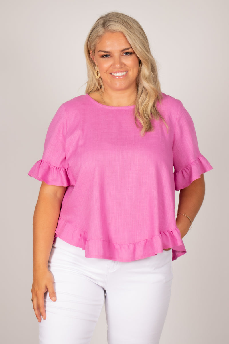 Ainslie Top in Pink