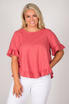 Ainslie Top in Rose
