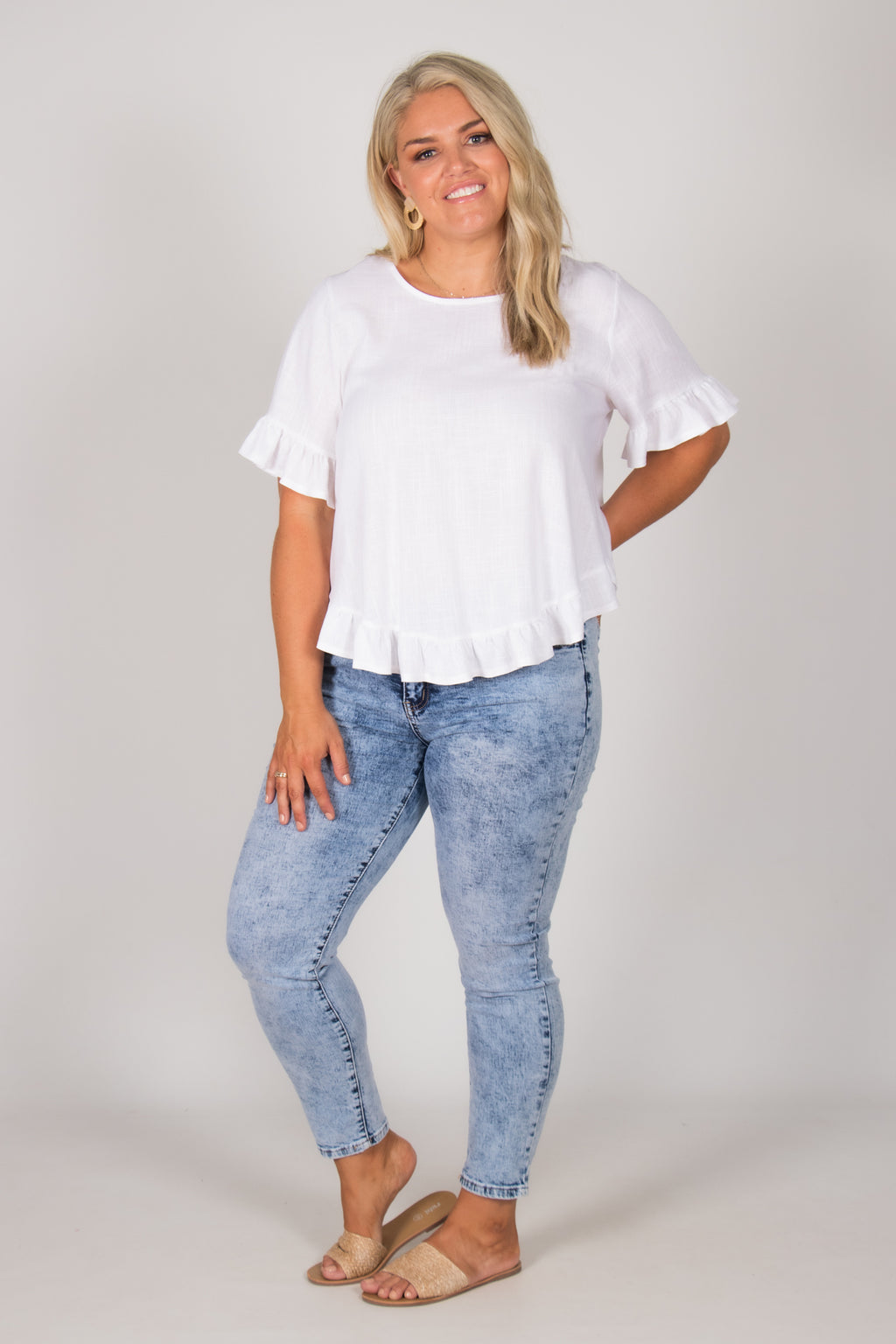 Ainslie Top in White