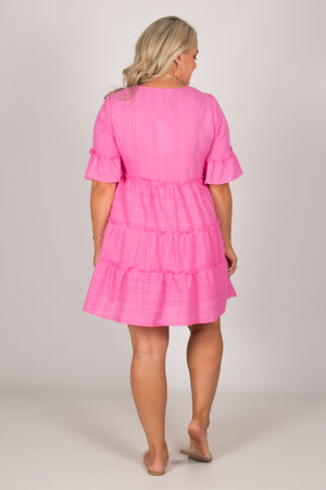 Chloe Dress in Hot Pink