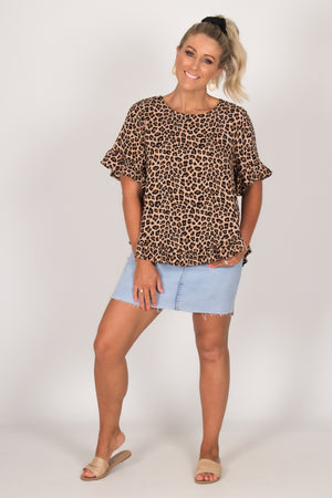 Ainslie Top in Leopard