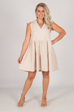 Elson Dress in Natural