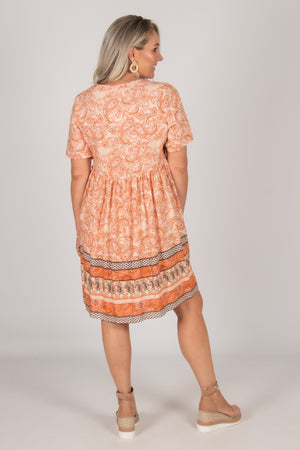 Colton Dress in Rust