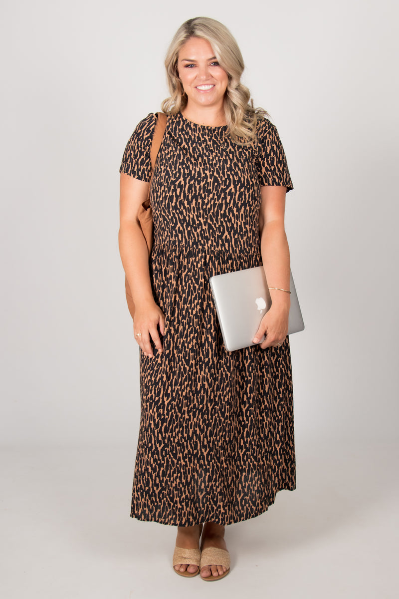 Camille Dress in Animal