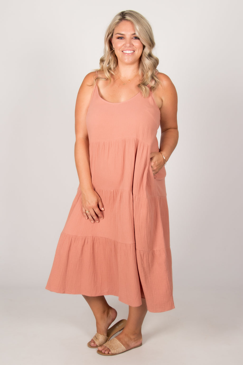 Felicity Dress in Salmon