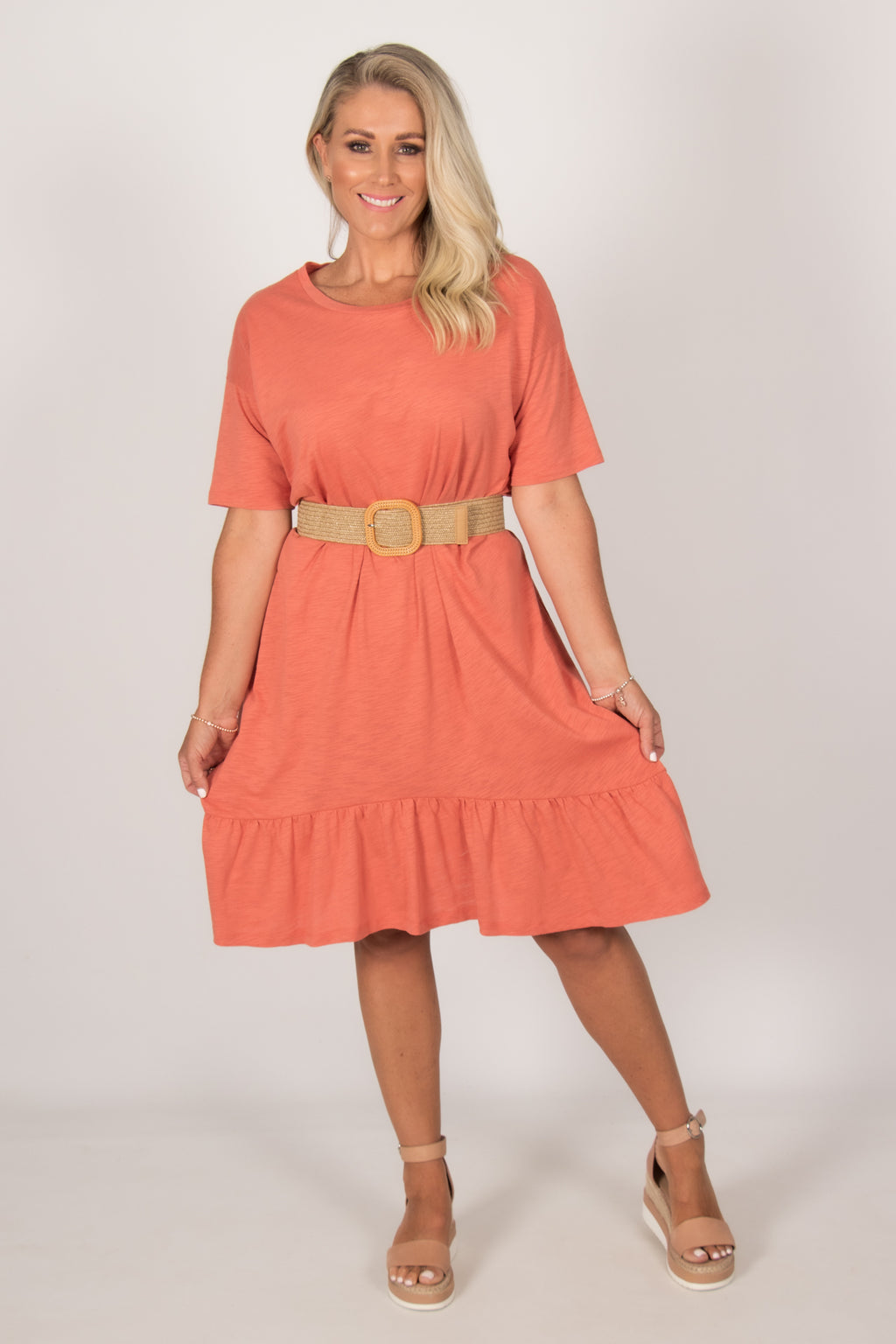 Goldie Dress in Tangello