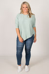 Charlie Knit Top in Mist
