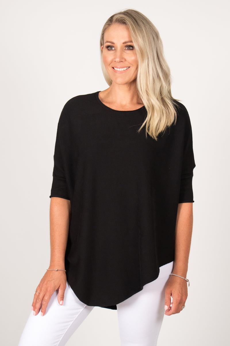 Charlie Knit Top in Black