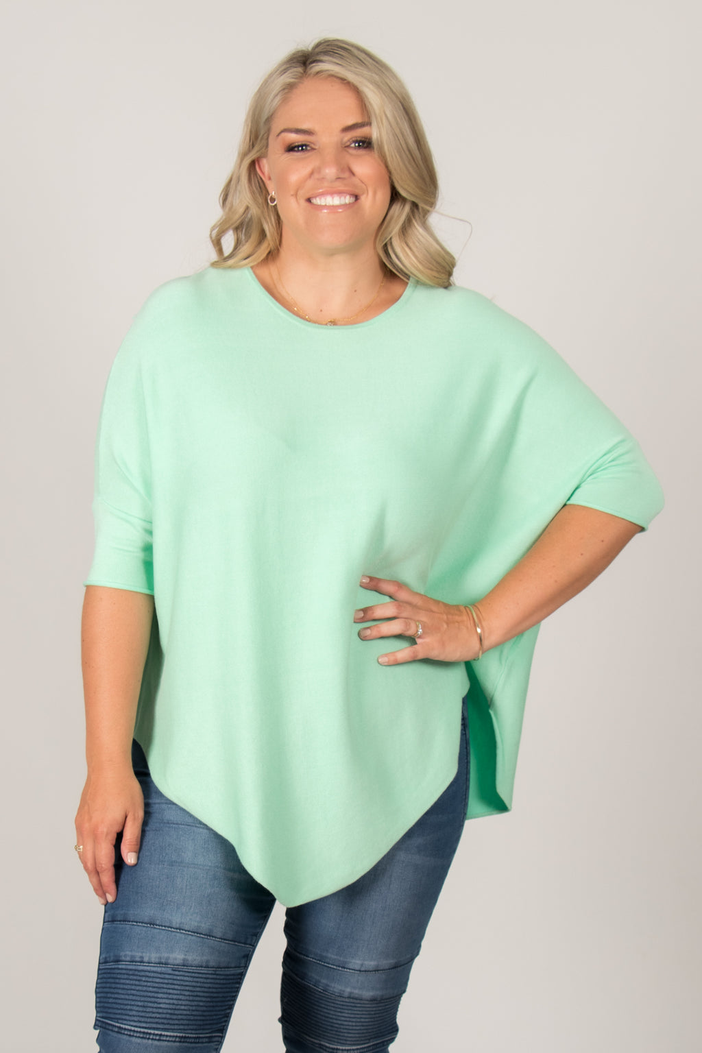Charlie Knit Top in Mint