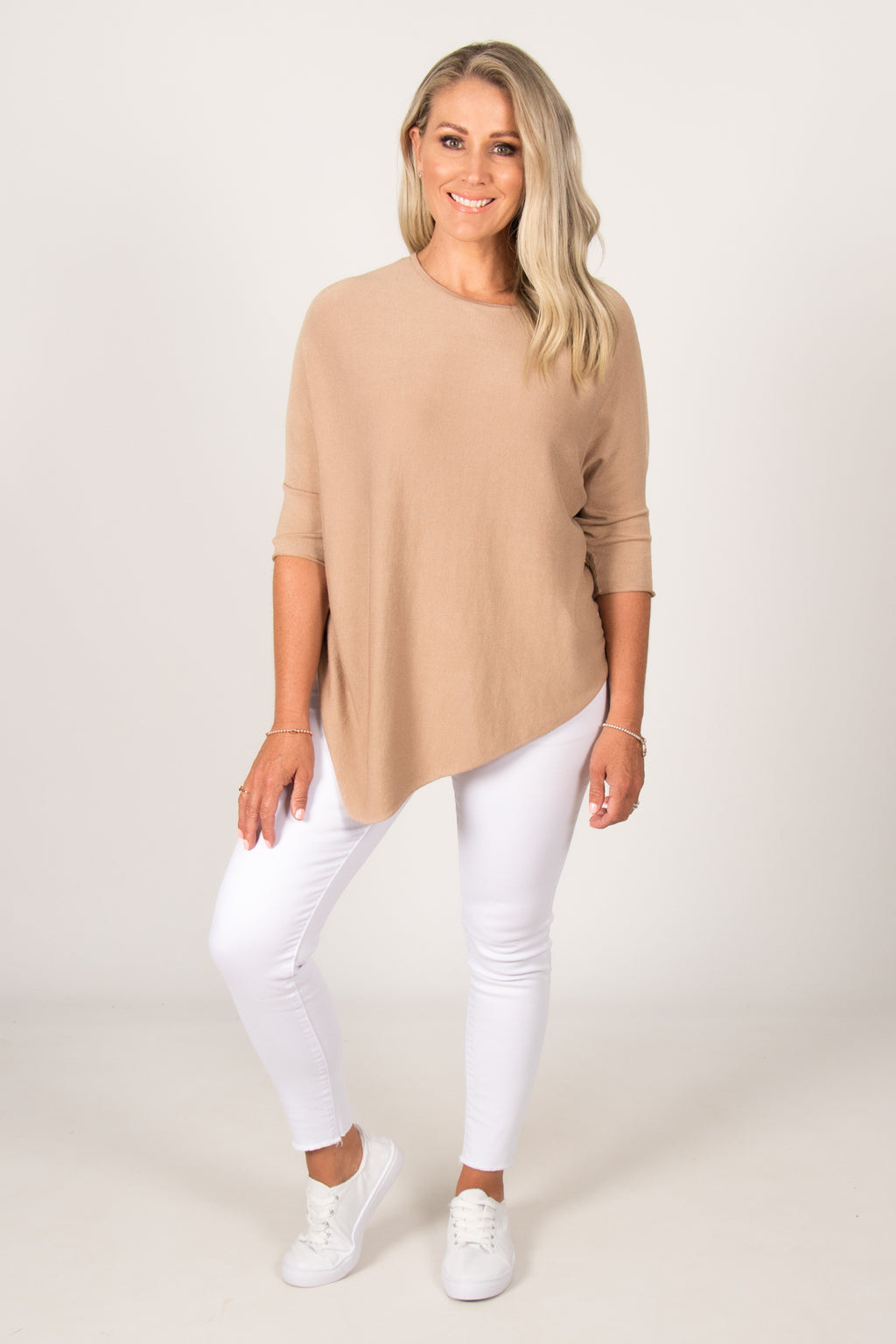 Charlie Knit Top in Stone