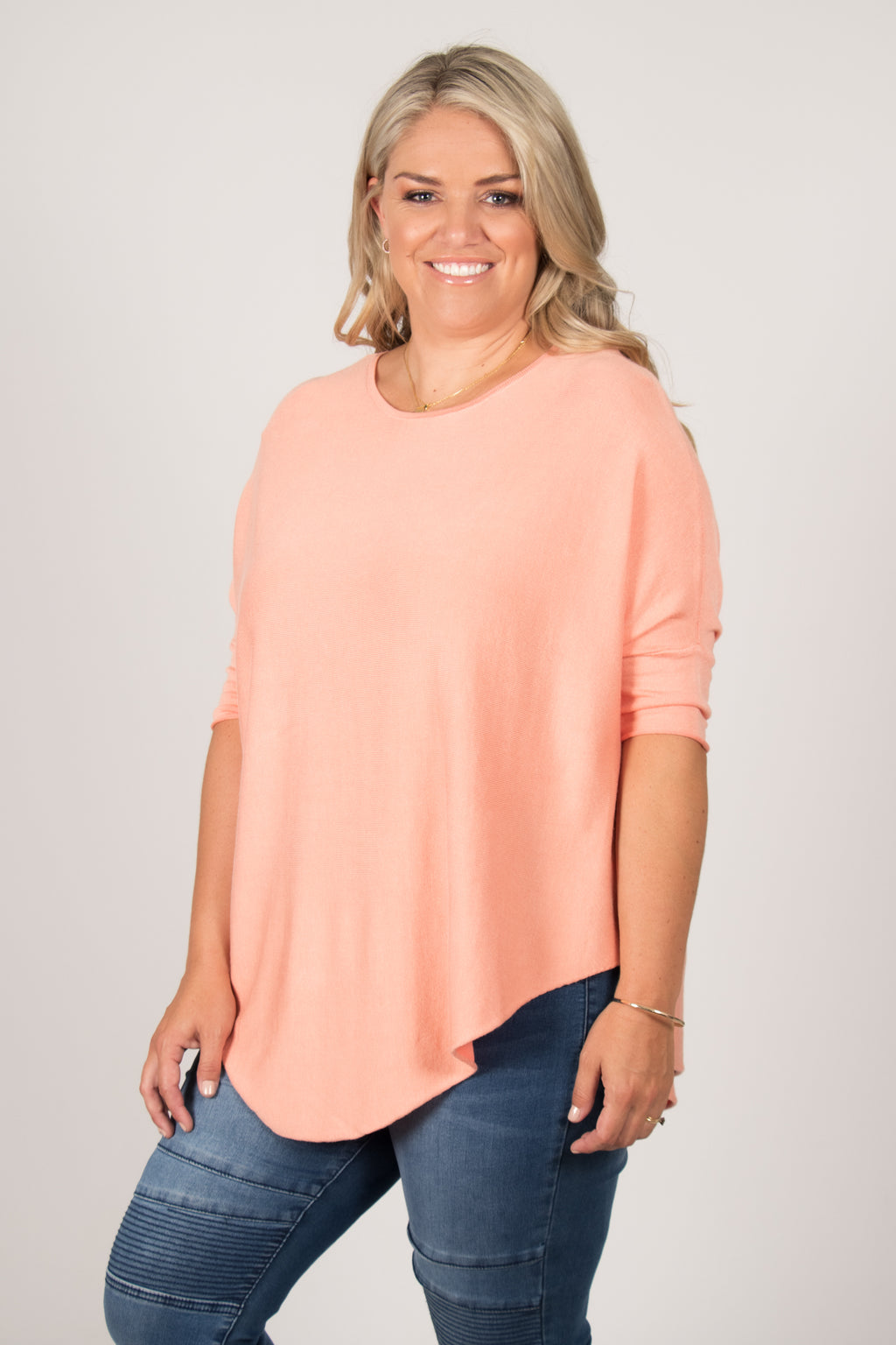 Charlie Knit Top in Coral