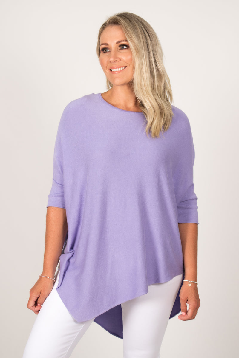 Charlie Knit Top in Lavender