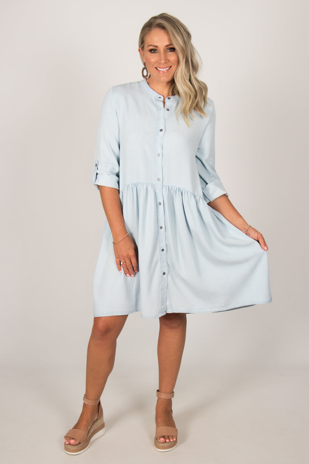 Frankie Dress in Chambray