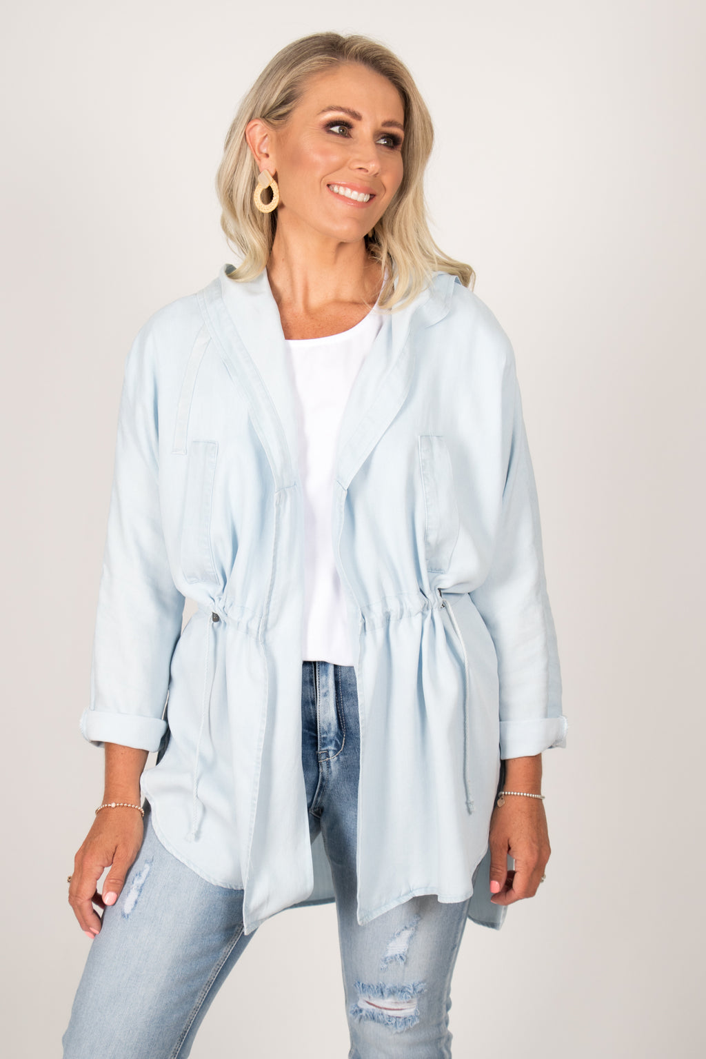 Frankie Jacket in Chambray
