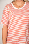 Ariana Tee in Tangello Stripe