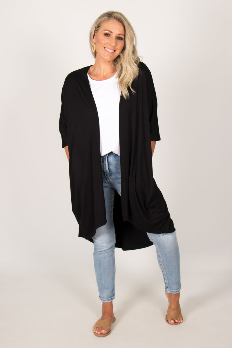 Valencia Cardigan in Black