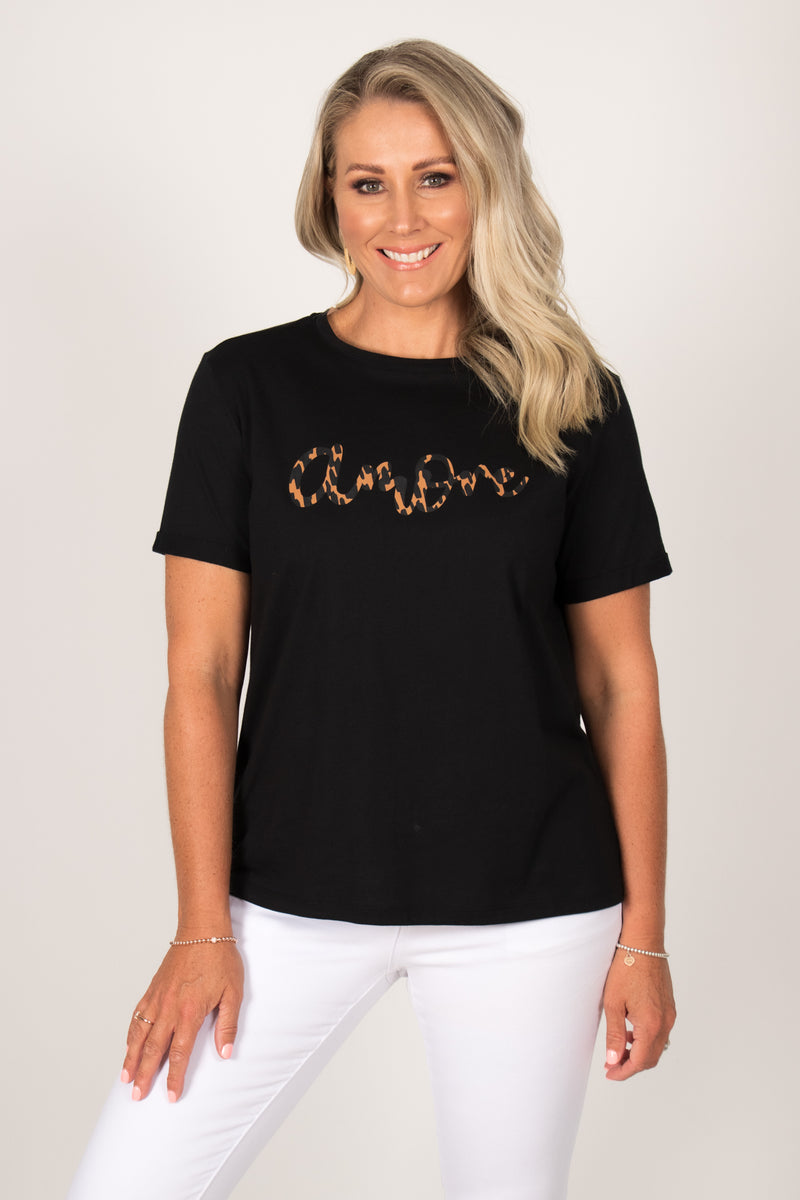 Camille Amore Tee in Black