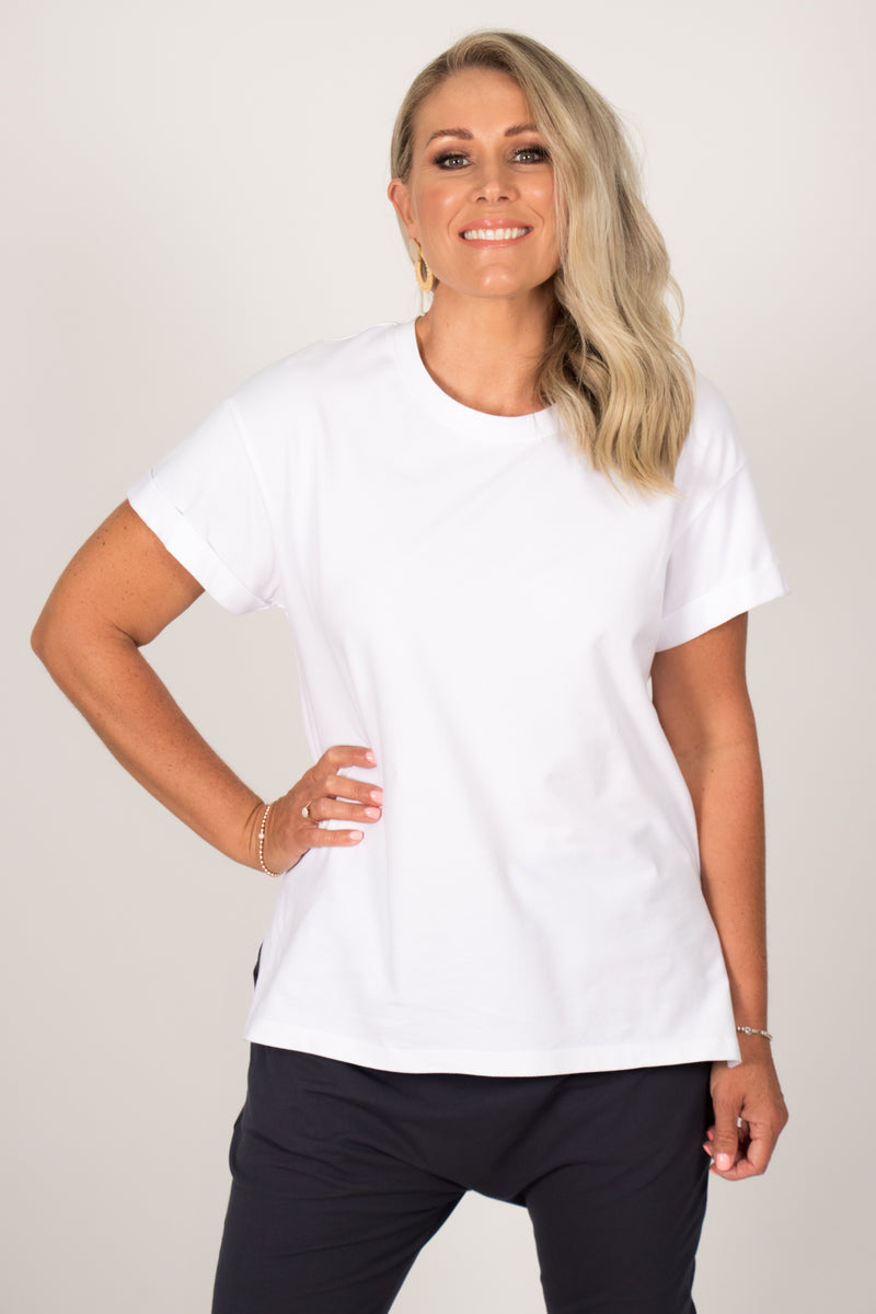 Boxy Tee in White