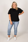 Boxy Tee in Black