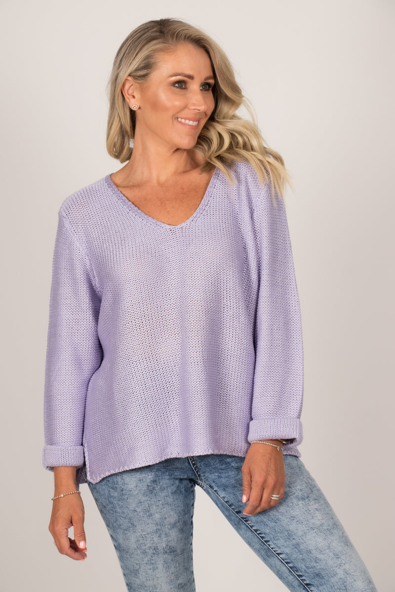 Elements Knit Jumper in Lavender