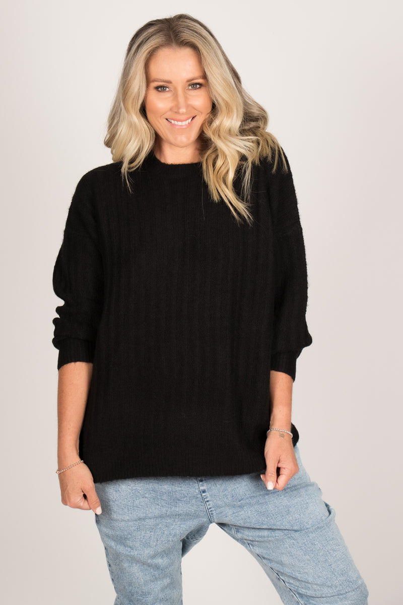 Kayla Knit Jumper in Black