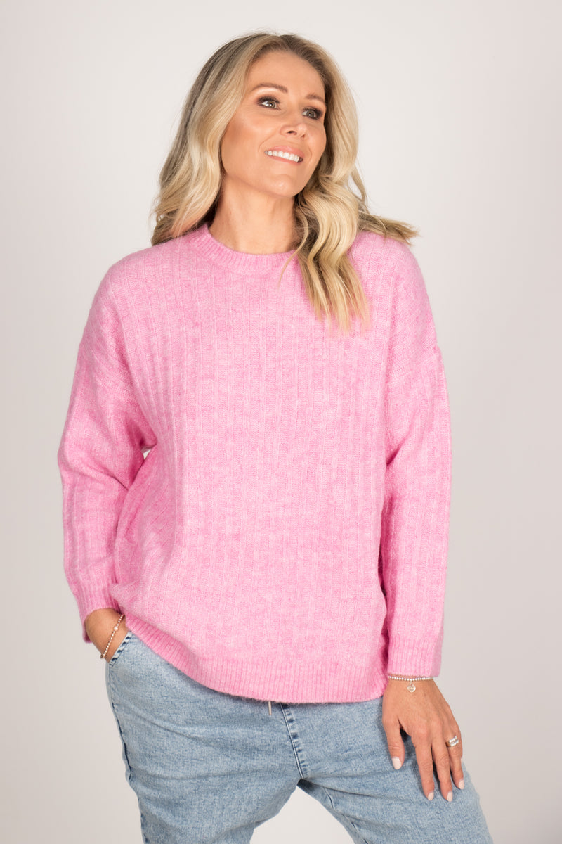 Kayla Knit Jumper in Floss