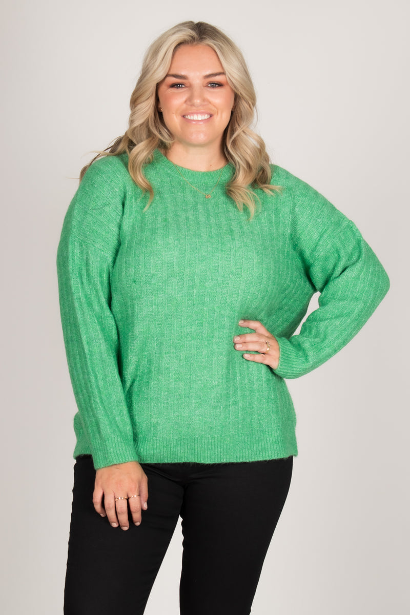 Kayla Knit Jumper in Apple