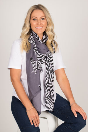 Zebby Scarf in Grey