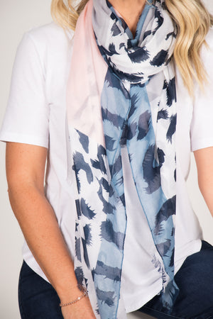 Mayne Scarf in Pink/Blue
