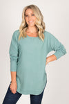 Junee Knit Jumper in Teal