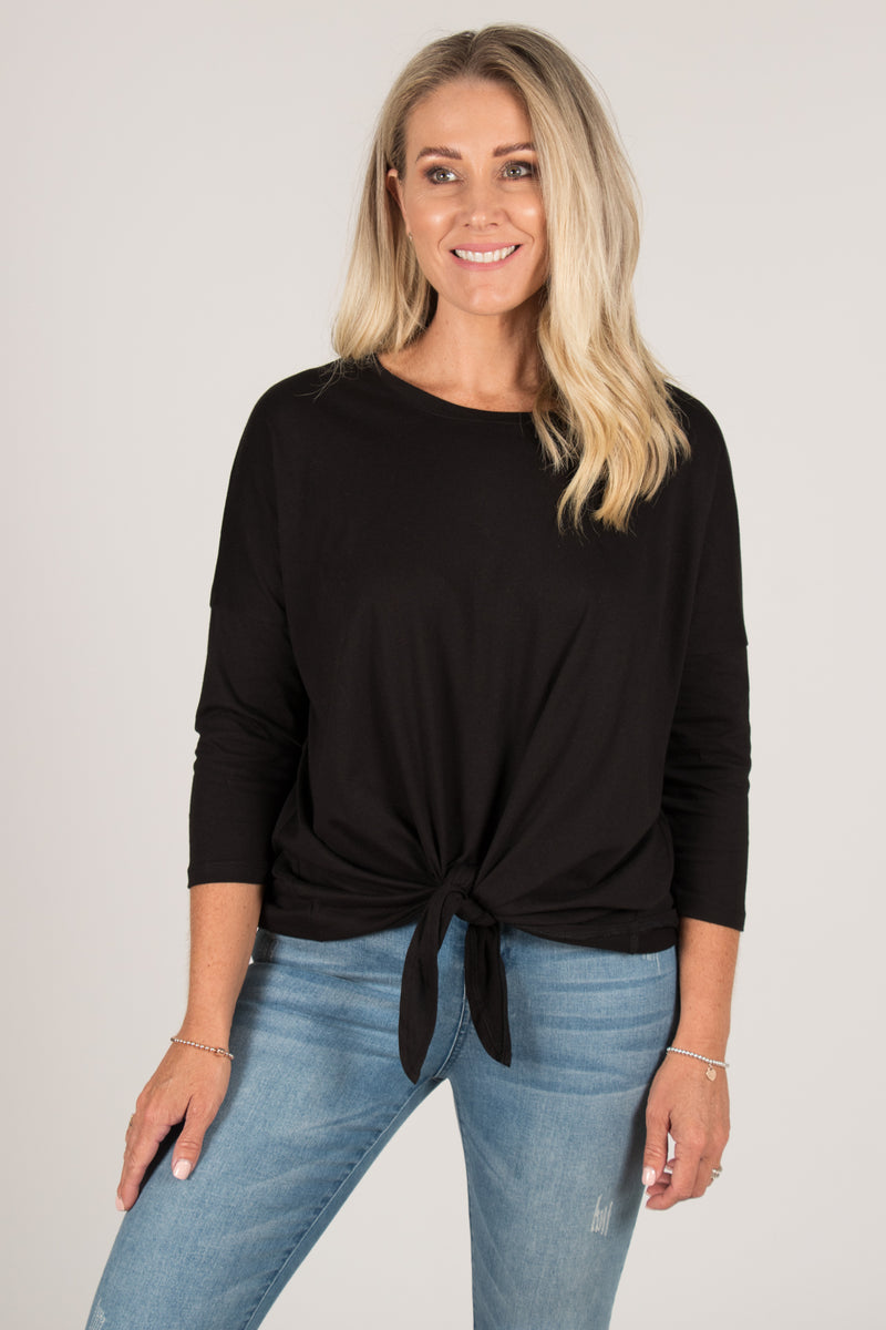 Ivy Knot Top in Black