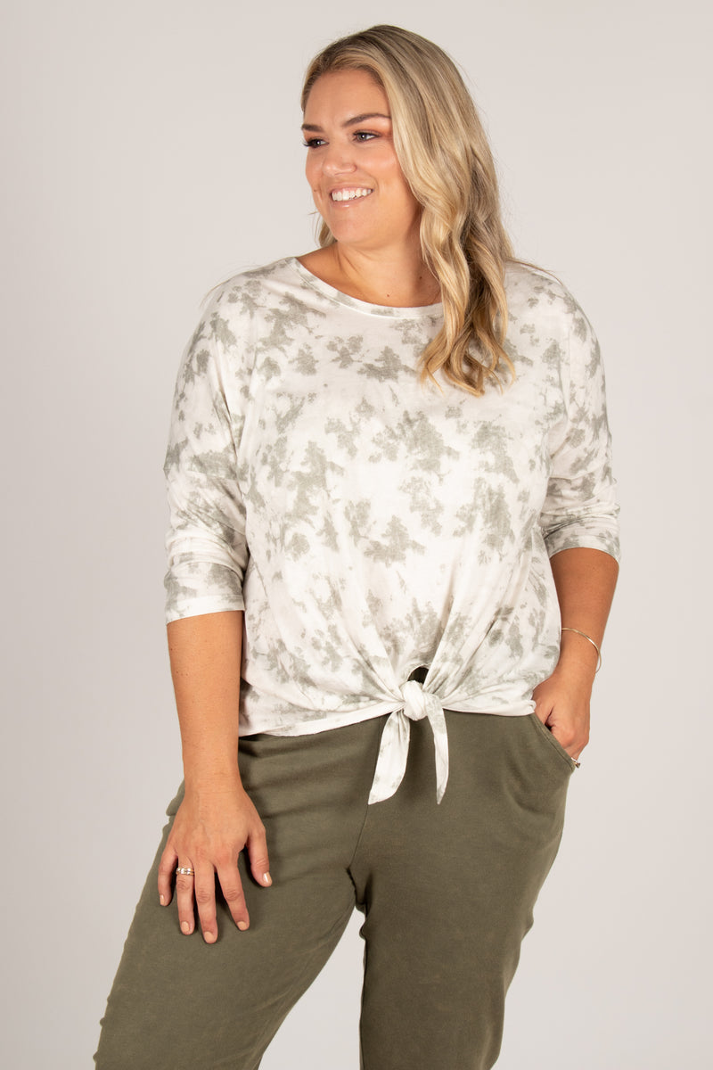 Ivy Knot Top in Fern Marble