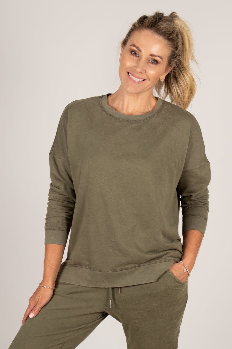 Sienna Sweat in Fern