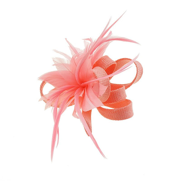 Andrea Clip/Brooch in Coral