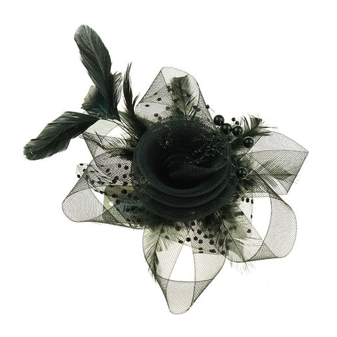Alina Fascinator/Clip in Black