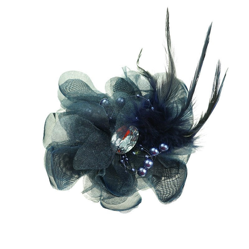 Mia Clip/Brooch in Navy
