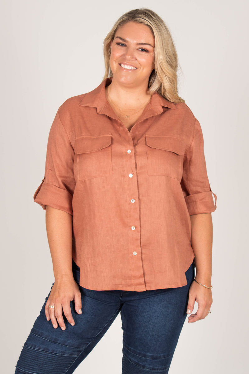 Riley Shirt in Spice