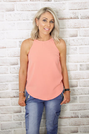 Carly Top in Salmon