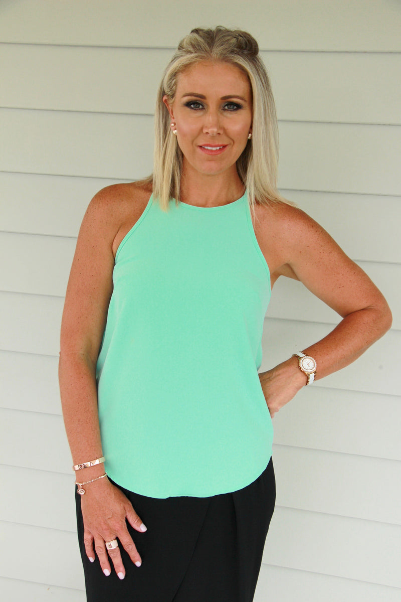 Carly Top in Mint