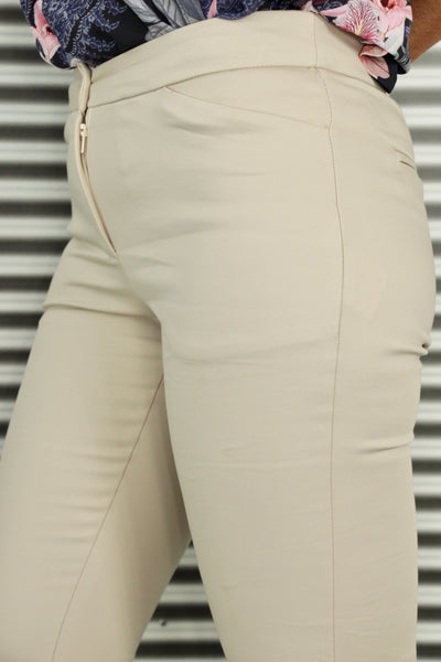 Runway Tailored Pants in Beige