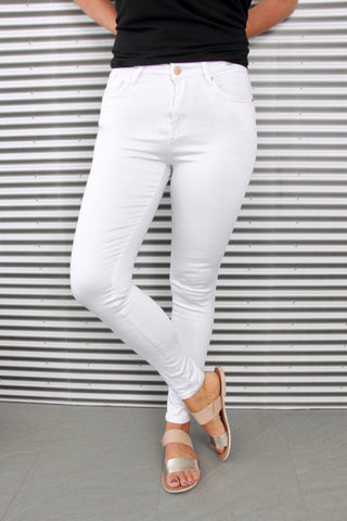 Gelato Legs 7/8 in White with Rose Gold