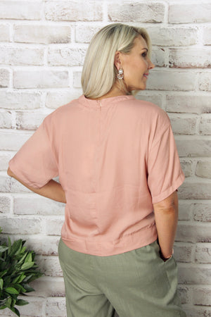 Dynasty Top in Salmon
